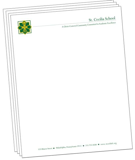 Official Letterhead School Letterheads Get Your Official School Letterhead With Your Logo And More Information