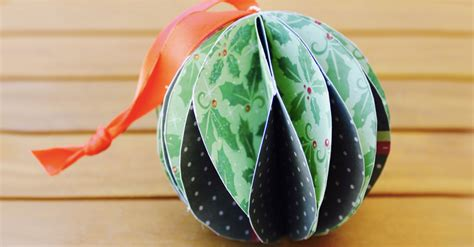 How To Make A Paper Bauble - paper baubles