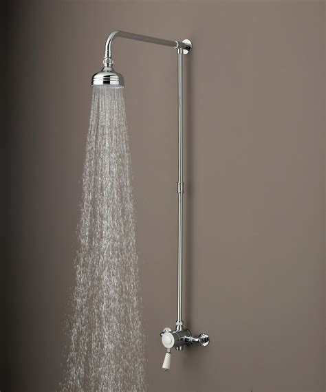Shower Mounted by Colonial Thermostatic Surface Mounted Shower Valve With