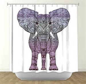 Another artistic elephant shower curtain