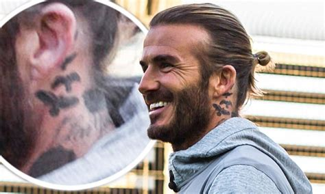 david beckham neck tattoo david beckham unveils fifth new this year daily