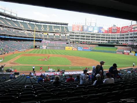 rangers sections globe life park section 132 rateyourseats com