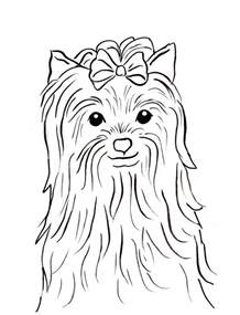yorkshire terrier coloring page samantha bell