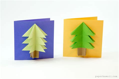 Origami Trees - easy origami tree tutorial paper kawaii
