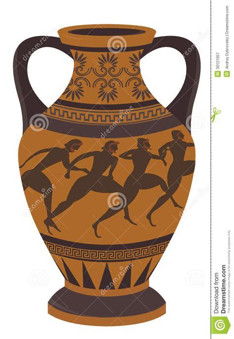 antico vaso greco vaso greco illustrazione vettoriale immagine di disegno