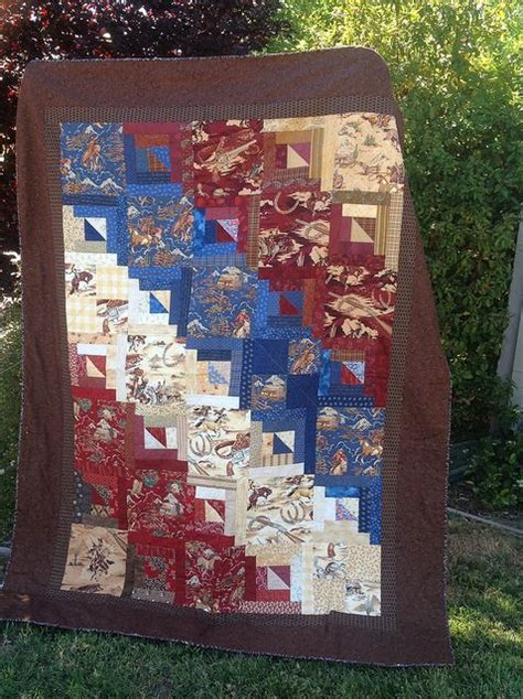 Western Themed Quilt Patterns by 17 Best Images About Quilts Cowboys Silhouette On Cowboys Quilt And Cowboy