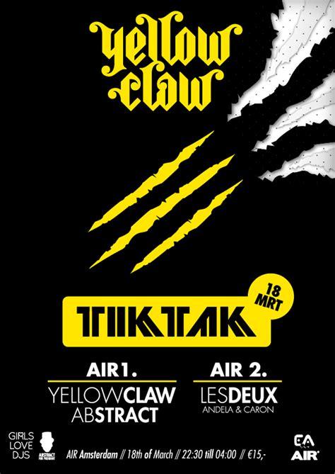 Zipper Yellow Claw 02 18 03 2012 yellow claw tiktak db label