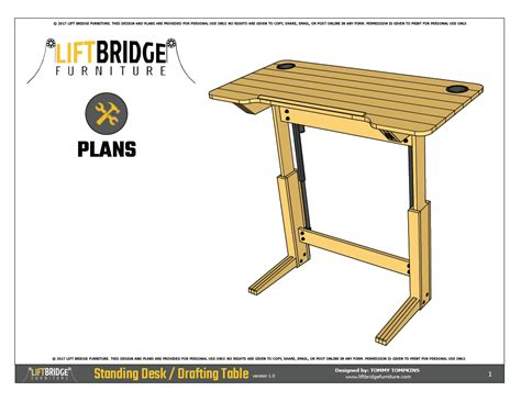 Drafting Table Plans Free Lift Bridge Standing Desk Drafting Table Plans Lift Bridge Furniture