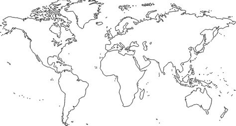 imagenes de un planisferio en blanco y negro mapa mundial para pintar comedor saludable