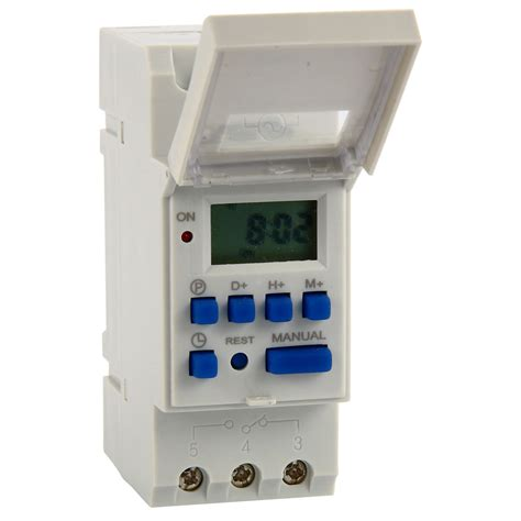 Timer Digital Original 220v Ac16 ac 220 240v digital lcd power programmable din timer time switch relay 16a bi117 ebay