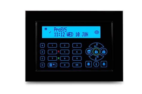 risco usa adds touchscreen keypad to flagship prosys