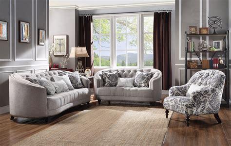 tufted sofa set curved light gray curved tufted sofa set w plush