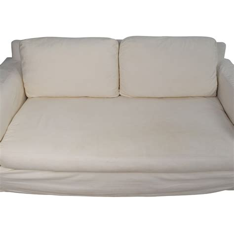 pottery barn deep couch 88 off pottery barn pottery barn deep seat cream sofa