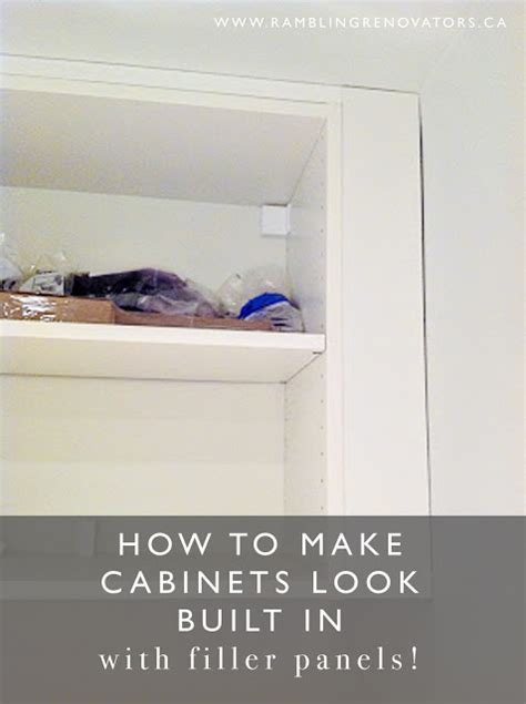 Kitchen Filler Panel Installation by How To Make Cabinets Look Built In Rambling Renovators