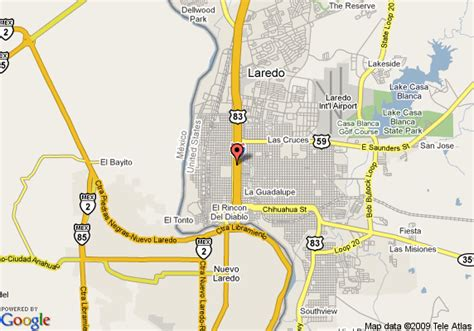 laredo texas map map of inn laredo civic center laredo