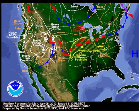 us weather on map usa weather map