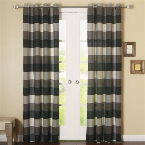 checked curtain panels best home fashion inc bold check grommet curtain panel reviews wayfair
