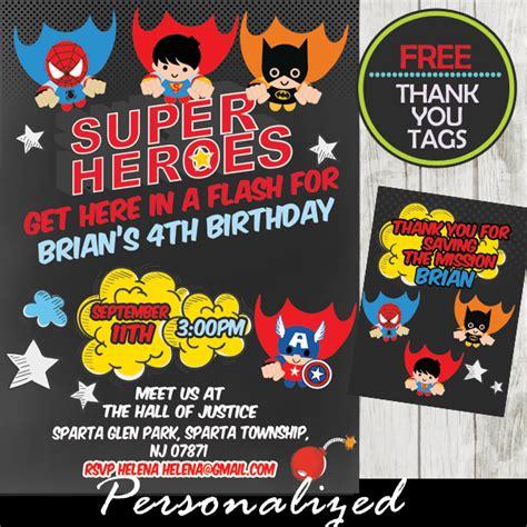 printable superhero stationery flying superheroes comic birthday invitation