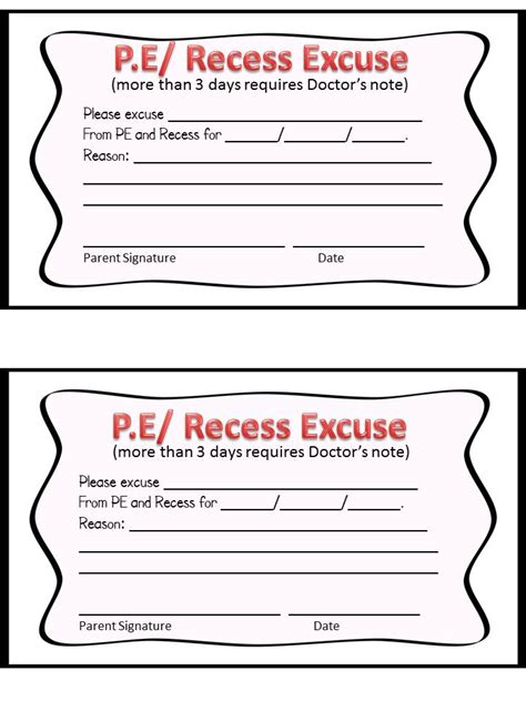 Excuse Letter Pe Class Second Grade Savvy Student Binders Intro And Home School Connection Section