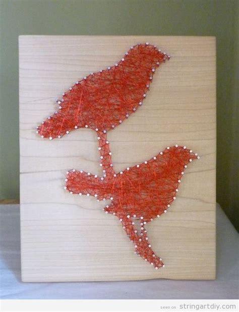 Diy String Patterns - birds string on wood string diy free