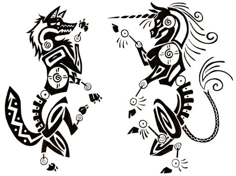 unicorn tribal tattoo ideas wolf refr inspiration