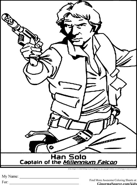 star wars coloring pages han solo coloring pages