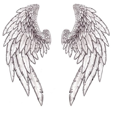realistic angel tattoo designs wings and halo tattoos designs