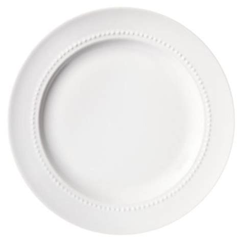 white beaded plates threshold beaded salad plate set of 4 white