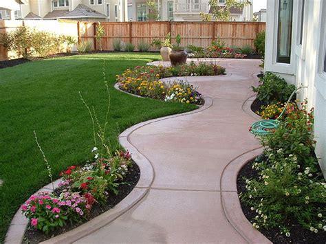 backyard sidewalk ideas several backyard landscaping ideas for small yards which