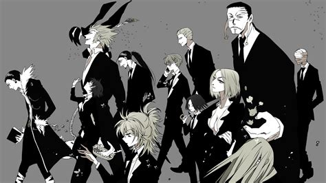 hunter x hunter black and white wallpaper hunter x hunter phantom troupe 6e wallpaper hd