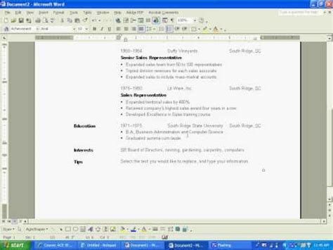 resume format resume builder deakin