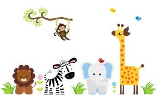 Baby Animal Wall Stickers Jungle Animal Wall Decal Baby Wall Decal Animal Wall