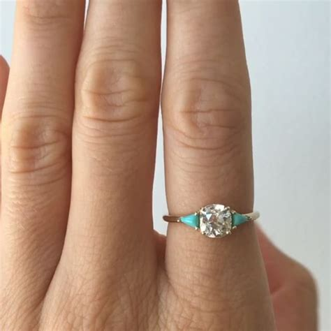 turquoise opal engagement rings best 25 turquoise engagement rings ideas on pinterest