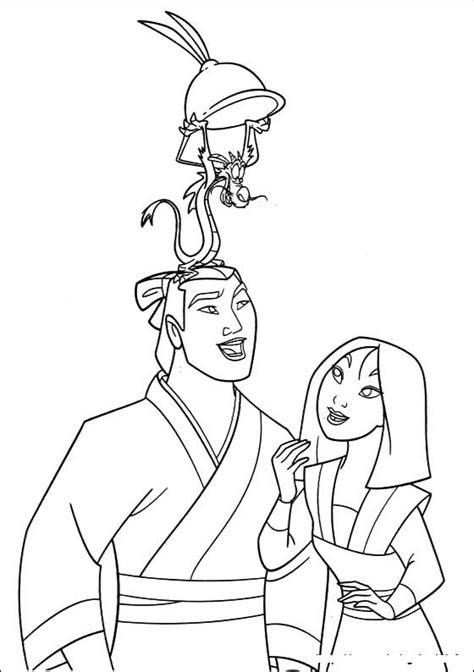 shang mushu mulan character coloring pages play