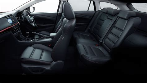 mazda 6 legroom car interior with cruise leather seats and a