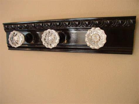 glass door knob coat rack decor references