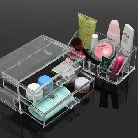 Acrylic Table Organiser clear acrylic cosmetic organizer makeup brushes table neat