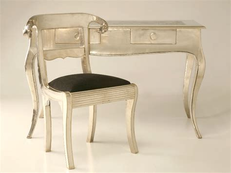 Furniture Chair Desk Empire Style Antique Furniture Empire Style Desk And Chair With Metallic Finish