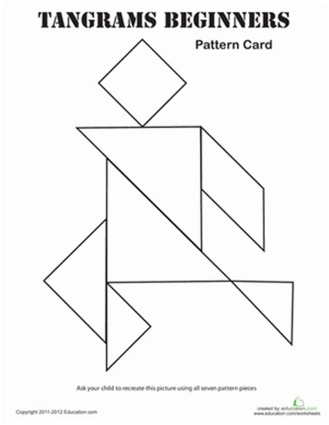 printable shapes puzzle easy tangrams puzzle 7 worksheet education com