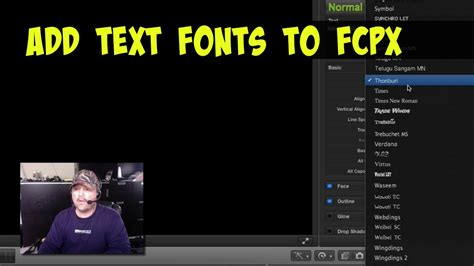 final cut pro how to add text how to add text fonts to final cut pro x youtube