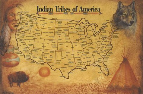 america map american tribes indian tribes of america