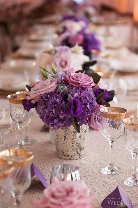 purple and gold table decorations best 25 purple flower centerpieces ideas on
