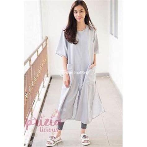 Baju Atasan Cewek Wanita Baru Dress White Ak Dress Wanita baju kaftan tunic wanita warna grey black white harga murah bandung dijual tribun