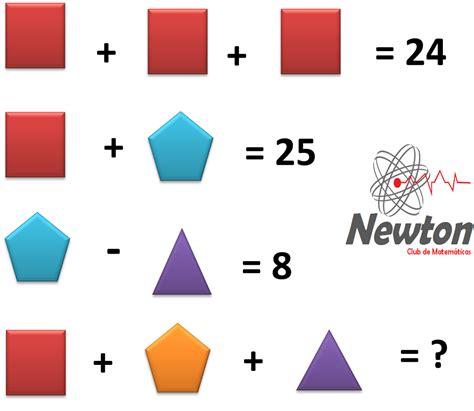 imagenes con matematicas newton matem 225 ticas problemas matematicos con figuras