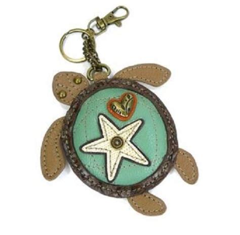 Chala Coin Purse Key Fob chala sea turtle key chain coin purse leather bag fob