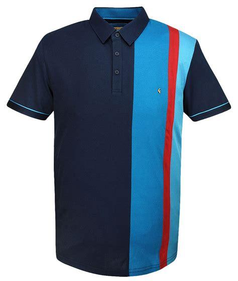 Panel Stripe Shirt gabicci vintage navy stripe panel polo t shirt modfellas