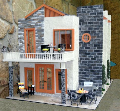 Bamboo Kitchen Design Ellath Contemporary Dollhouse Nana S Dollhouses And