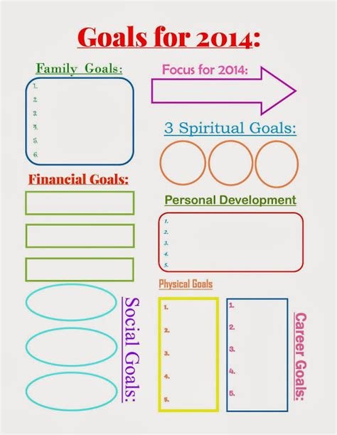 free vision board template 11 free organizational printables