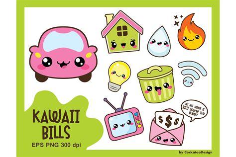 kawaii bills illustrations creative market