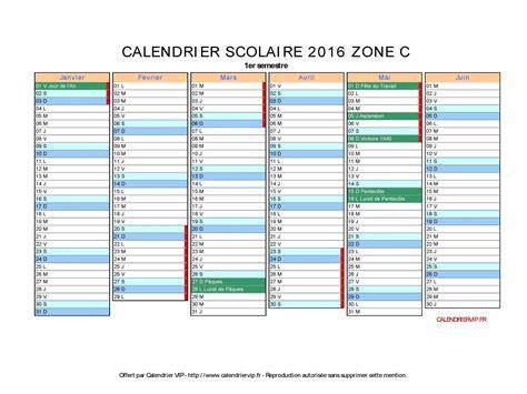 Calendrier 2016 Vacances Scolaires Zone C Calendrier Scolaire 2016 224 Imprimer Gratuit En Pdf Et Excel